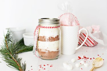 hot chocolate mix in a jar