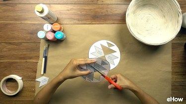 Cutting stencils for DIY desert-style baskets.