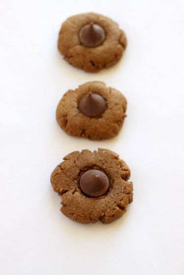 Gingerbread cookies with chocolate Kisses