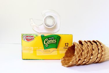 ice cream cones tape box