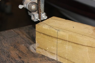 Cut out the wedges using a band saw