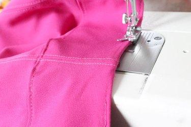 topstitch waistband
