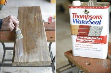 Application of wood waterproofer