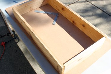 repeat until you've made a rectangle box shape | how to make an elevated planter box