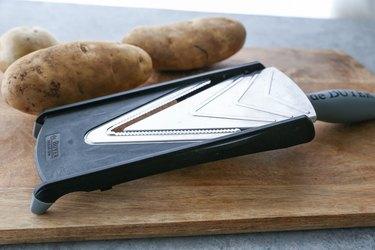 Mandolin slicer and potatoes