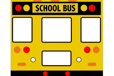 Illustration of the back of the bus.