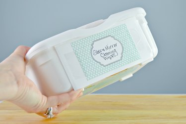 homemade glass and mirror cleaning wipes