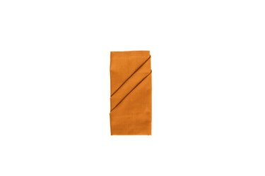 press the napkin flat