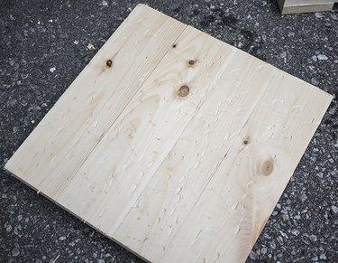 Raw Distressed knotty pine