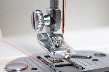 needle thread under the presser foot