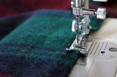 use a zig zag stitch