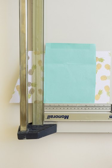 Paper cutter and envelope.