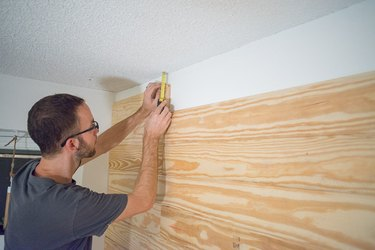 Measure the distance between the ceiling and your top board to get a snug fit.