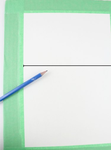 Draw a horizon line.