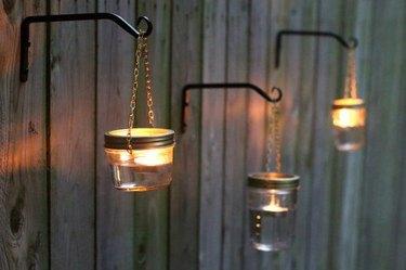 Outdoor Hanging Mason Jar Lights