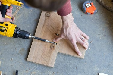 """Join the 5-inch and 11-inch cedar picket to for a """"T."""""""