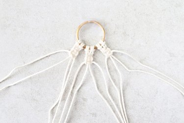 Make two more sets of square knots