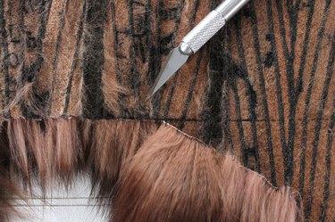 cut fur from underside