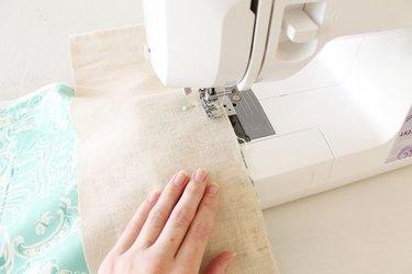 Sew border pieces