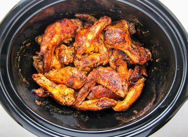 Chicken wings made in a slow cooker.