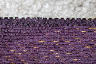 finish edges with zig zag stitch