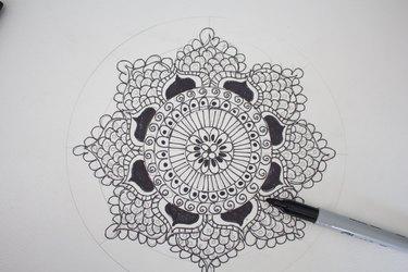 Filling in petals