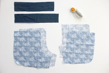 cut out jogging short pattern pieces