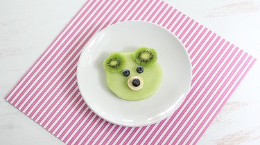 Plated bear face fruit snack