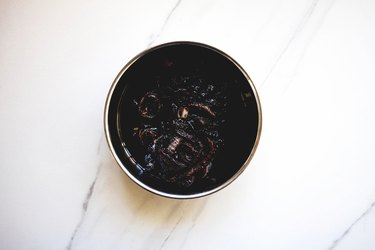 Soft, sticky and dark caramelised balsamic onions.