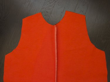 Open the front and the press seam allowance to one side.