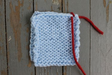Making the first whip stitch
