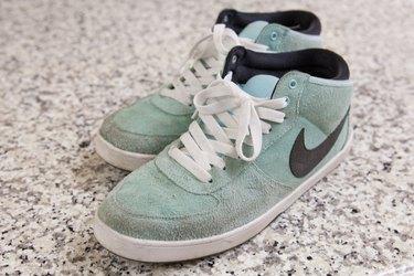 faux-suede shoes