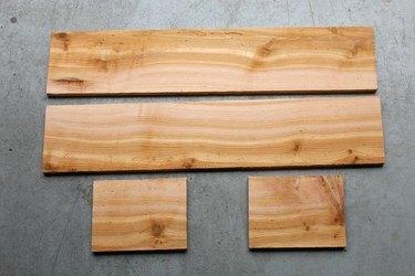 Cedar boards for window box