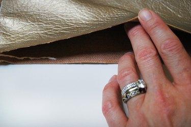 Glue leather together