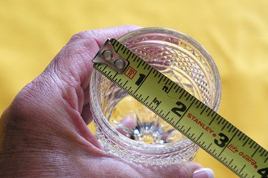Measuring a glass.