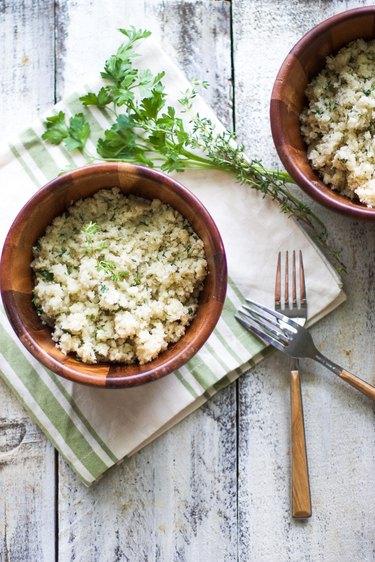 Garlic Herb Cauliflower Rice