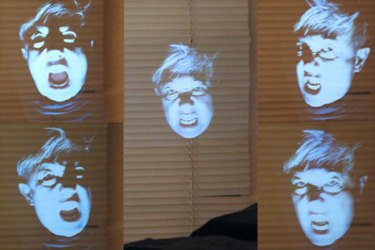 Five floating spectral heads