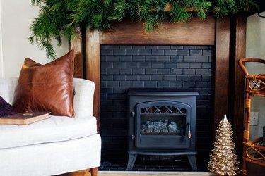 Renter-Friendly Fireplace