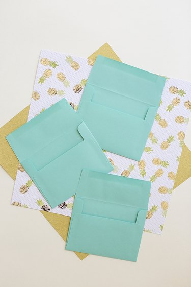 Paper supplies and envelopes.