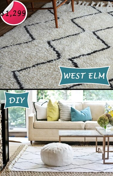 rug from canvas drop cloth