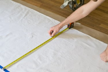Measure the center of each row to place the stencil.