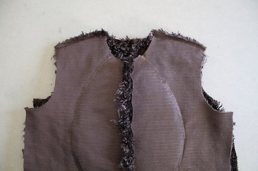 Do not sew together the side seam yet.