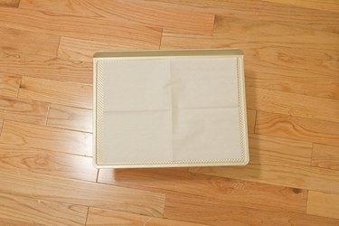 Unfold parchment paper