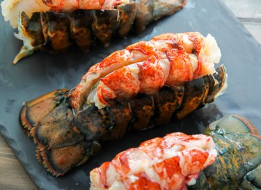 Bake the lobsters for 15 minutes.