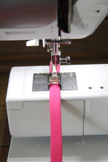 stitch along edge of bias tape
