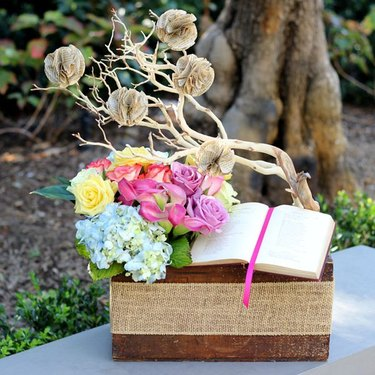 Vintage Flower and Book Box
