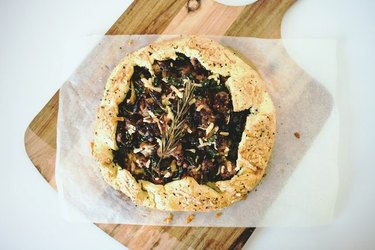 Kale and sausage galette