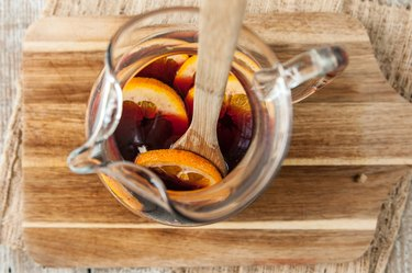 Orange Pomegranate Holiday Sangria Tutorial
