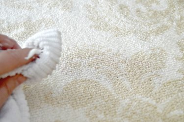 how to clean a carpet stain using shaving cream