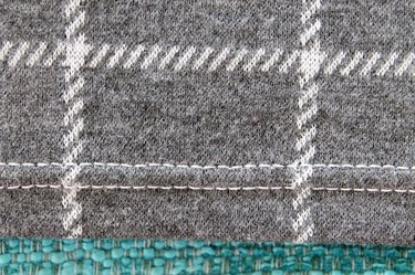 Front view of the hem sewn with a double needle.